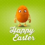 Joyeuses Pâques stupéfiant 3D la carte postale, bannière, fond Photos libres de droits