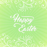 Joyeuses Pâques sur le fond vert photo libre de droits