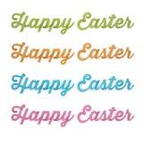 Joyeuses Pâques, type de l'écriture 3D sur le fond blanc Photo stock