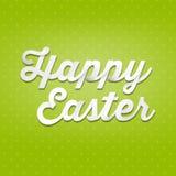 Joyeuses Pâques, type de l'écriture 3D sur le fond de modèle Photos libres de droits
