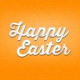 Joyeuses Pâques, type de l'écriture 3D sur le fond patern Images libres de droits