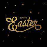 Joyeuses Pâques, typographie Photo stock