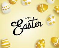 Joyeuses Pâques, typographie Image stock