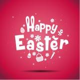 Joyeuses Pâques, typographie Images libres de droits
