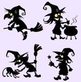 Joyeuses sorcières Photos stock