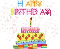 Joyeux anniversaire 2 Image stock