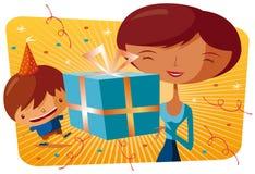 Joyeux anniversaire - cadeau Illustration Libre de Droits