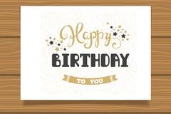 Joyeux anniversaire Calibre pour des cartes d'anniversaire Lettrage de main illustration stock