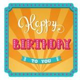 Joyeux anniversaire Carte de vacances pour la fête d'anniversaire de jour illustration libre de droits