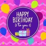 Joyeux anniversaire carte de voeux Images libres de droits