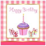 Joyeux anniversaire, carte de voeux Images libres de droits