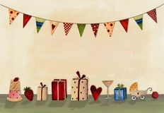 Joyeux anniversaire. Carte de voeux Photos stock