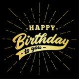 Joyeux anniversaire conception d'inscription Vecteur et illustration illustration libre de droits
