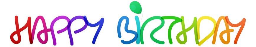 Joyeux anniversaire d'arc-en-ciel coloré Photos libres de droits
