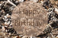 Joyeux anniversaire d'Autumn Greeting Card With Text Photos libres de droits