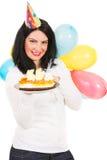 Joyeux anniversaire de femme Photo libre de droits