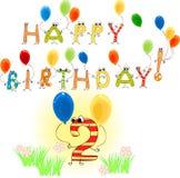 Joyeux anniversaire deux Image libre de droits