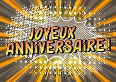 Joyeux Anniversaire! Lycklig f?delsedag i franskt stock illustrationer