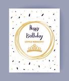 Joyeux anniversaire mignon, petite princesse Color Banner Photographie stock libre de droits