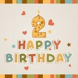 Joyeux anniversaire. Numéro deux Images libres de droits