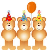 Joyeux anniversaire Teddy Bears Photo stock