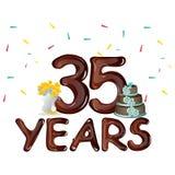 Joyeux anniversaire trente-cinq 35 ans Images libres de droits
