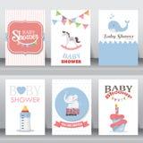 Joyeux anniversaire, vacances, salutation de Noël et carte d'invitation Image libre de droits