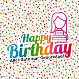 Joyeux anniversaire - zum Geburtstag d'Alles Gute Photo stock