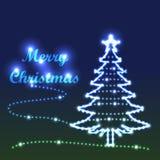 Joyeux arbre lumineux illustration stock