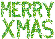 Joyeux branchement de sapin de Noël, vecteur Photo libre de droits