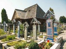 Joyeux cimetière dans Sapanta, Maramures Images libres de droits