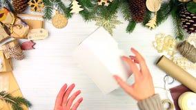 Joyeux concept de réveillon de Noël et de bonne année banque de vidéos