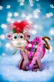 Joyeux concept de vacances de singe pendant les nouvelles années 2016 Photo libre de droits