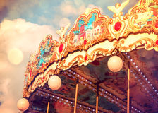 Joyeux disparaissent le rond, carrousel image libre de droits