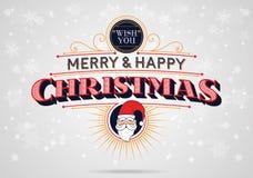 Joyeux et heureux Noël illustration libre de droits
