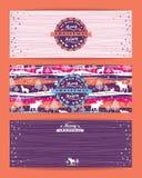 Joyeux fond de Chrismas avec la typographie Photographie stock libre de droits