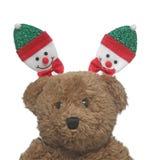 Joyeux MAS heureux de X et poupée mignonne Image stock