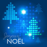 Joyeux Noël abstract background Stock Photography