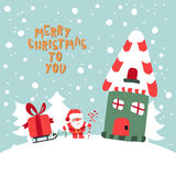Joyeux Noël à vous illustration Photos stock