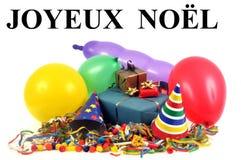 Joyeux Noël écrit en français illustration stock