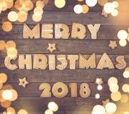 Joyeux Noël 2018 photos stock