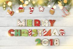 Joyeux Noël 2018 image libre de droits