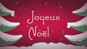 Joyeux Noël stock video