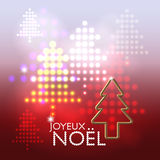 Joyeux Noël abstract background Stock Image