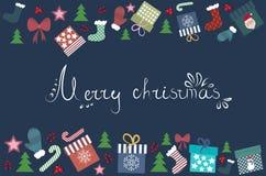 Joyeux Noël Attributs de Noël illustration libre de droits