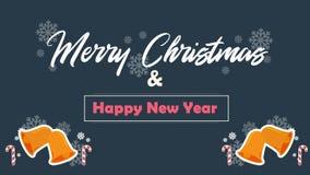 Joyeux Noël avec Noël de cloche de l'animation deux illustration libre de droits