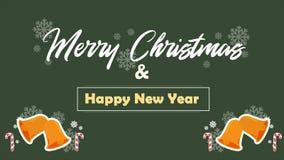 Joyeux Noël avec Noël de cloche de l'animation deux illustration de vecteur