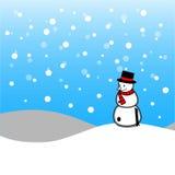 Joyeux Noël avec le bonhomme de neige de Noël Image stock