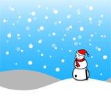 Joyeux Noël avec le bonhomme de neige de Noël Photos stock