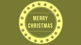 Joyeux Noël avec le greetingAnimation d'animation Noël de carte de voeux du Joyeux banque de vidéos